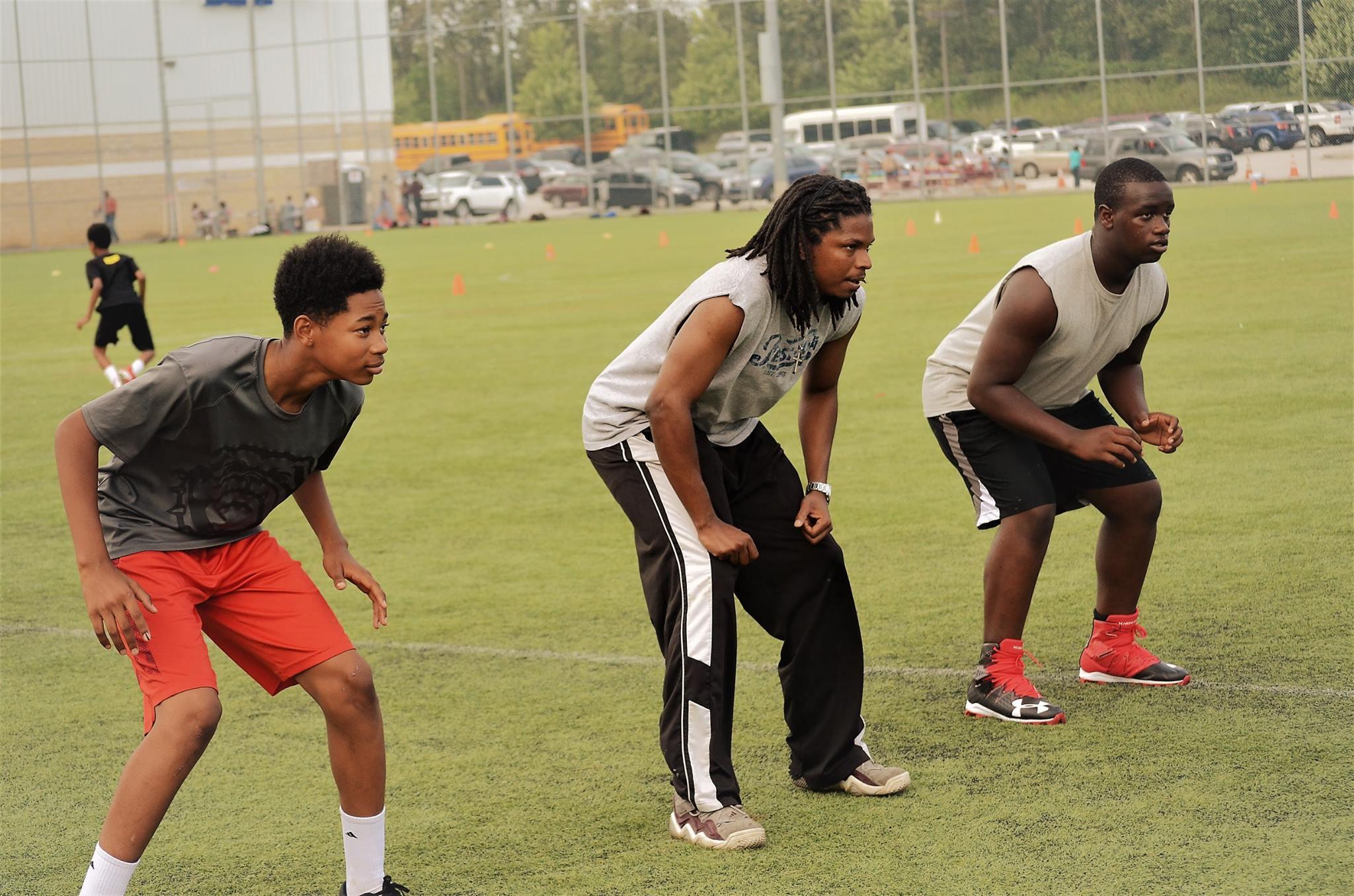 coaching football drills