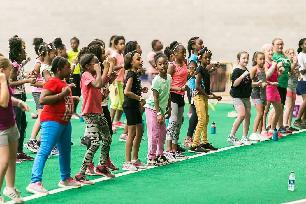 girls cheer practice