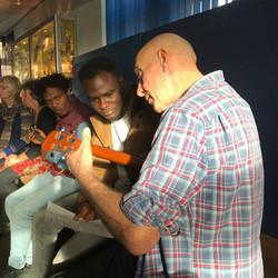 Sharing the intricacies of the uke