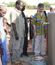l'inaugurazione del secondo punto acqua installato a Kara Kara