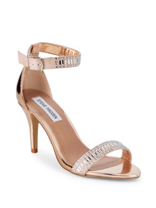 Steve Madden Embellished Metallic Sandals