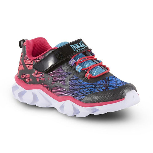Everlast® Sport Girls' Starz Light-Up Sneaker - Blue/Pink