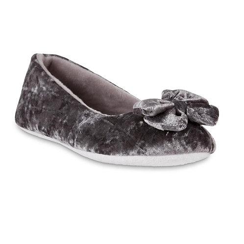 Jaclyn Smith Women's Ballet-Style Slippers-Silver