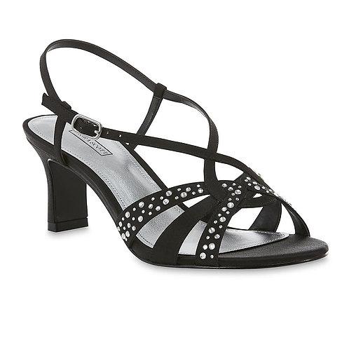 Laura Scott Women's Isolde Strappy Dress Shoe - Black