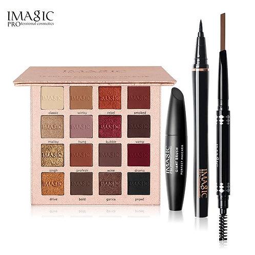 IMAGIC 4 Pcs 16 Colors Charming Eyeshadow Kit