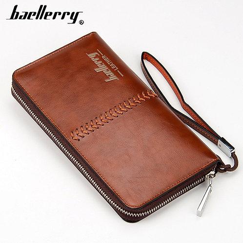 Baellerry Leather Long Men Clutch/Wallet