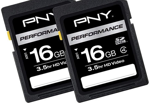 PNY 16GB 2-Pack Performance Class 4 SD Card