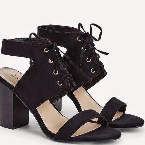 Just Fab Dress Sandals Blk (7)