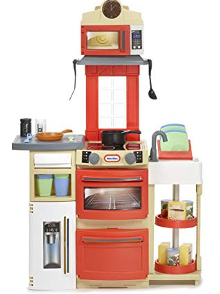 Little Tikes Cook 'n Store Play Kitchen with 32 Piece Accessory Set
