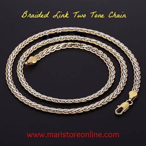 Braided Two Tone Male Female Chain