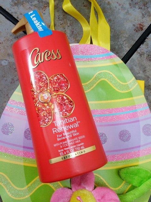 Caress Exfoliating Body Wash with Pump Tahitian Pomegranate & Coconut Milk