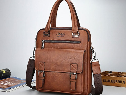 Men's Leather Satchel in Small