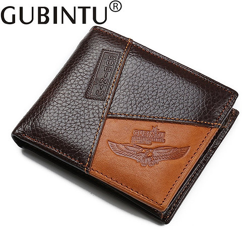 Genuine Men's Leather Wallet with coin zipper pocket