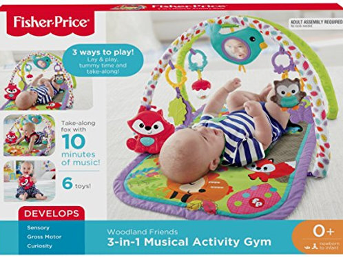 Fisher-Price 3-in-1 Musical Activity Gym, Woodland Friends  by Fisher-Price