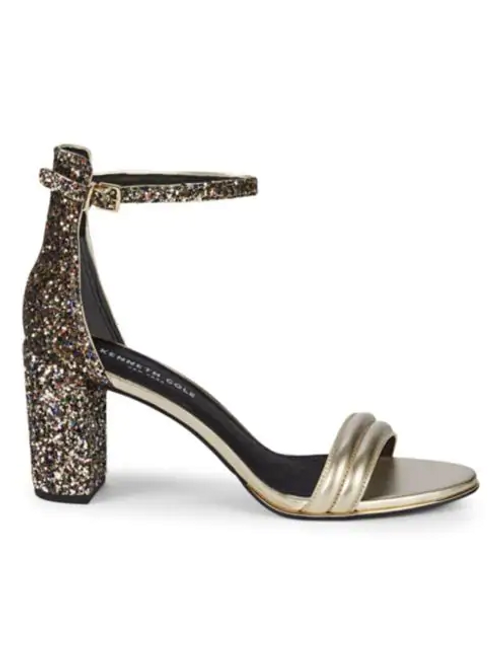Kenneth Cole New York Metallic Leather Sandals