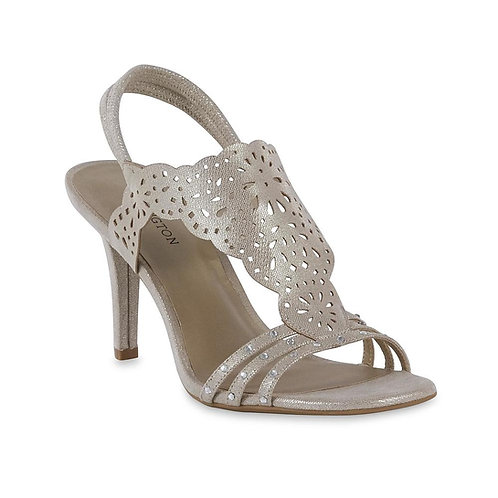 Dress Sling Back Sandals Gold/Silver