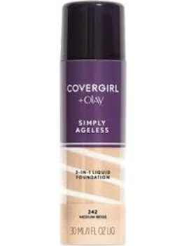 COVERGIRL+Olay Simply Ageless 3-in-1 Liquid Foundation Creamy Natural, 1 Ounce