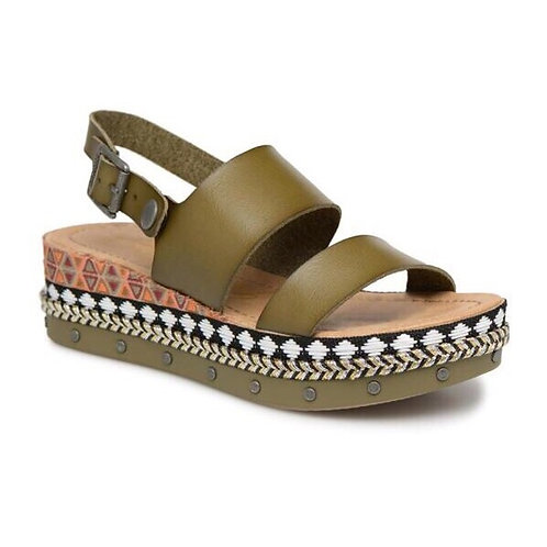 Blowfish Sage Green Tribal Wedge Sandals