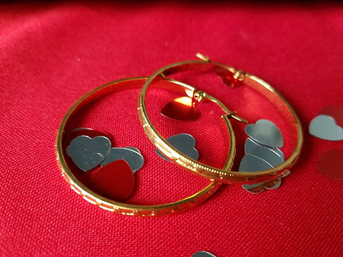 SS medium hoop earrings