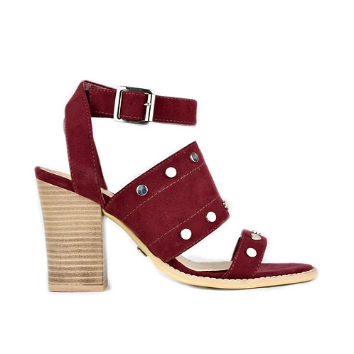 LOB Burgundy Heeled Sandals