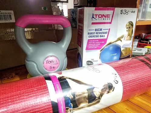 Tone Fitness Combo [Blue - 65 cm]