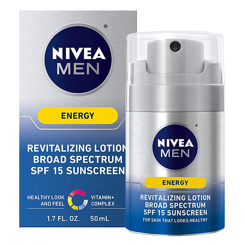 NIVEA Men Energy Lotion - Broad Spectrum SPF 15 Sunscreen for Face