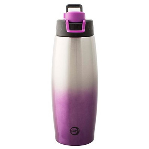 Zak Designs Prism Stainless 15 oz. Vacuum Insulated Water Bottle, Plum