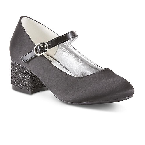 Sparkle & Tux Girls' Rosalee Black Mary Jane Dress Shoe