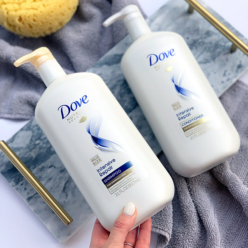 Dove Nutritive Solutions Daily Moisture Shampoo & Conditioner with Pump, 31 oz