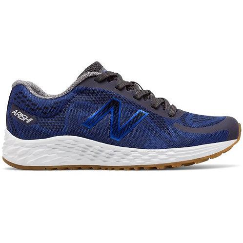 New Balance KJARIBLY: Arishi Road Boys Black/Blue Fashion Sneaker