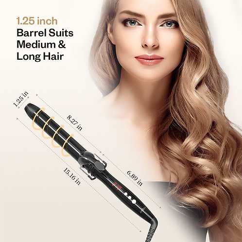 Anjou Curling Iron - Hair Curling Wand with Anti-scalding Insulated Tip