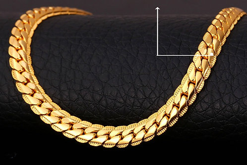 SS Gold Plated Snake chain Bracelet