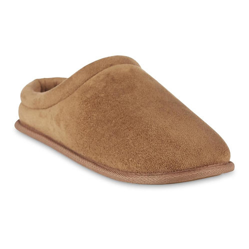 Basic Editions Men's Stooge Slipper - Tan/Blk