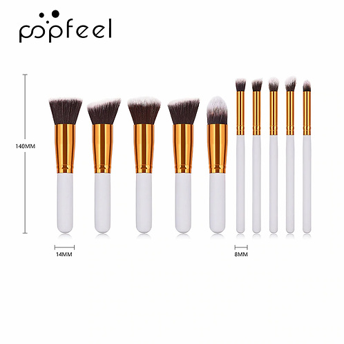POPFEEL Makeup Brush Set [Eye Brush & Face Foundation Brush]