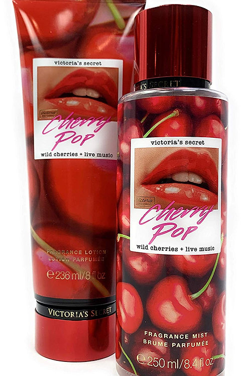 Victoria's Secret Cherry Pop Fragrance Mist and Lotion Limited Edition Set