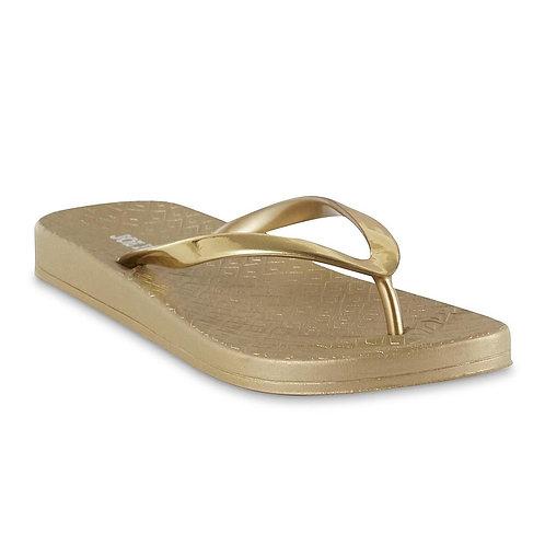 Joe Boxer Women's Danae Flip-Flop Sandal - Gold