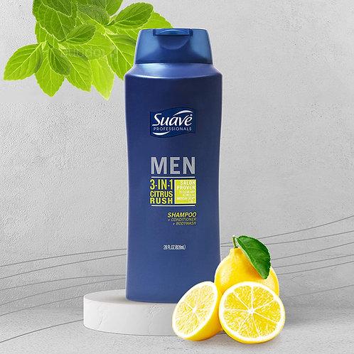 Suave Men 3-in-1 Shampoo Conditioner & Body Wash