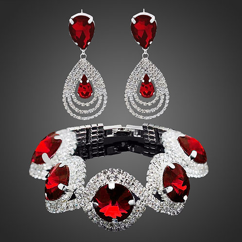 Women Rhinestone Austrian Crystal Jewelry Set