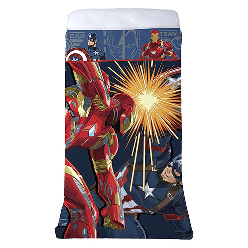 Captain America Civil War One-Piece Reversible Twin-Sized Blanket
