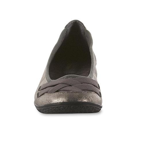 Basic Edition Women's Ballet Flats- Gunmetal