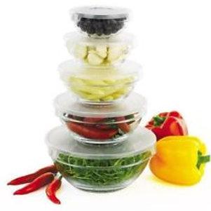 10-Piece Glass Bowl & Lid Set