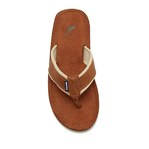 Men's Nautica Flip Flops - Brown