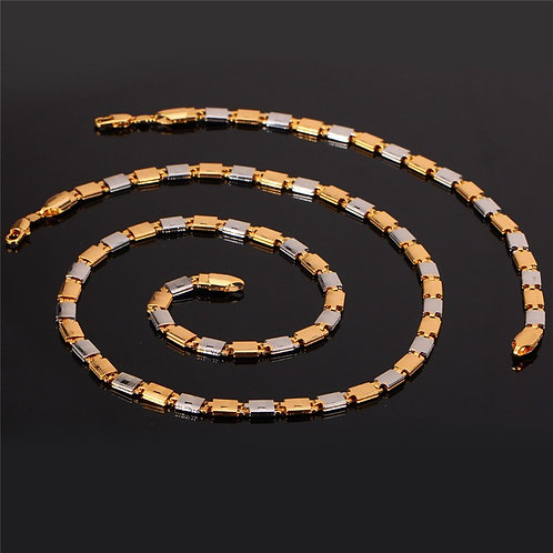 Multi-tone Gold Plated Necklace Set