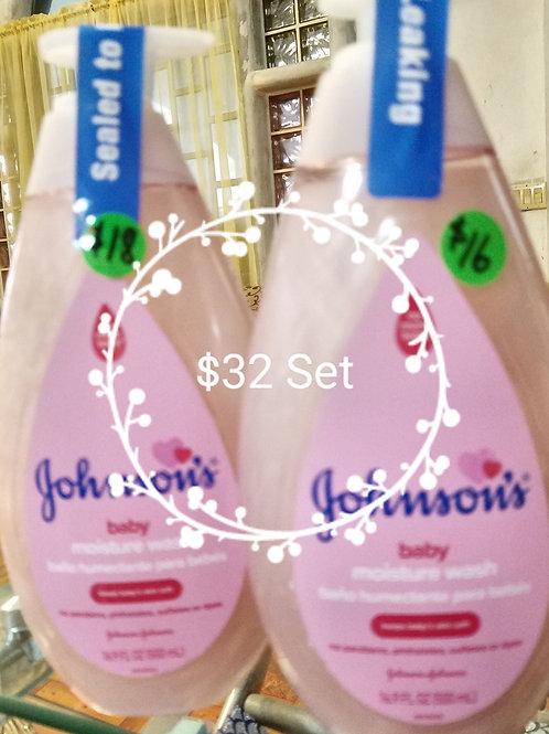Johnson's moisture wash &/or lotion