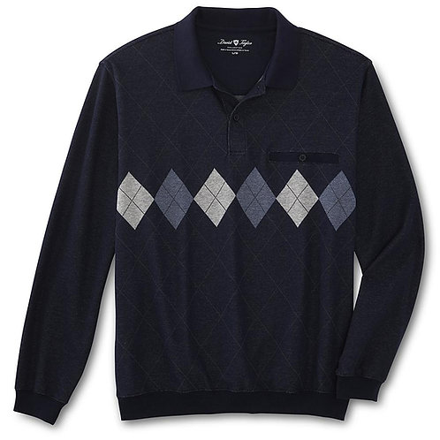 David Taylor Collection Men's Long-Sleeve Polo Shirt