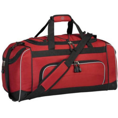 "Protege 24"" Duffel with Wet Shoe Pocket, RED"