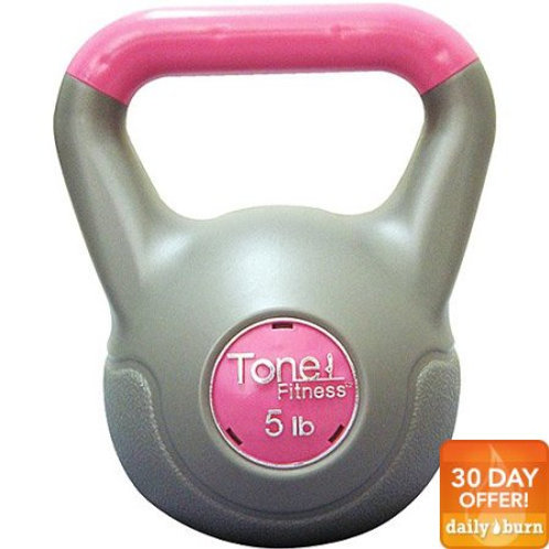 Tone Fitness 5-Pound Vinyl-Coated Kettlebell