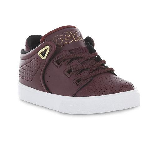 Osiris Boy's DV3 Wine/White Skate Sneaker