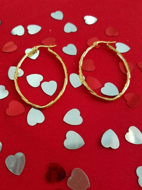 SS oval hoop earrings