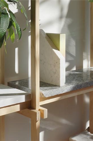 Marble Shelving Unit